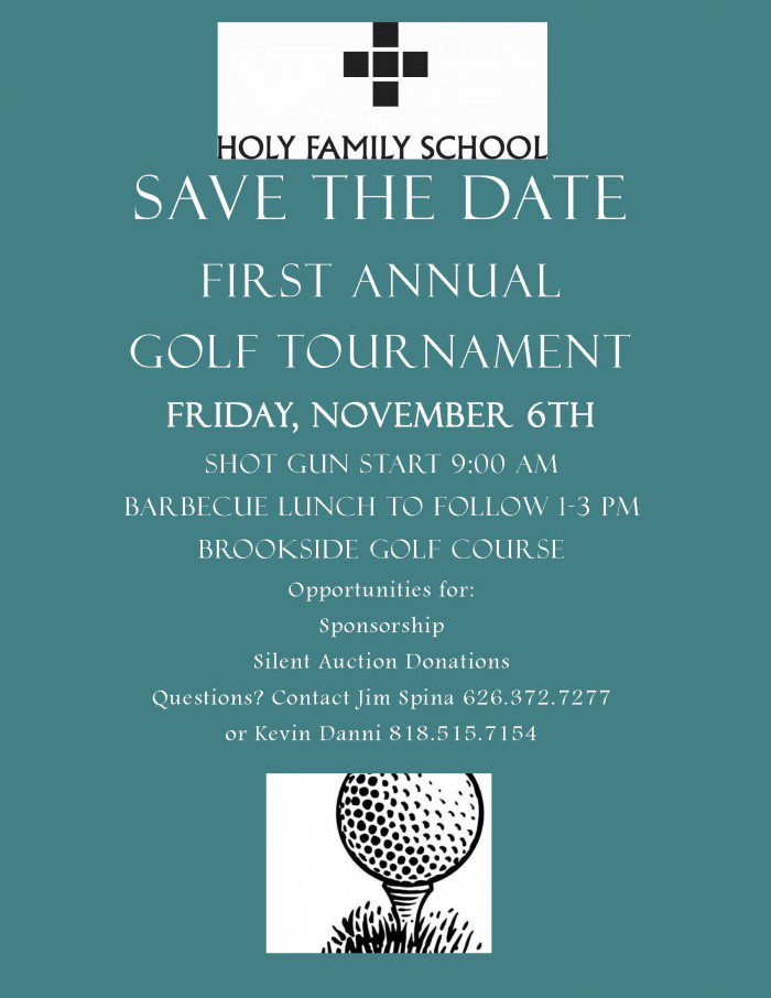Back By Popular Demand…Holy Family's Own Golf Tournament
