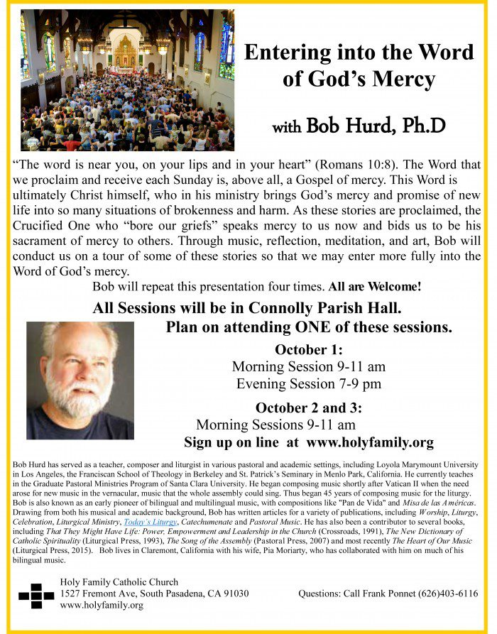 Sign Up Now to See Bob Hurd October 1,2,3