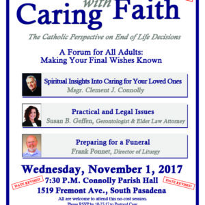 Caring With Faith – CANCELLED UNTIL FURTHER NOTICE!