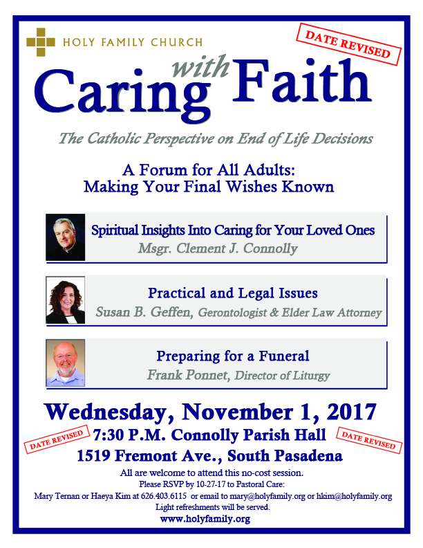 Caring With Faith - CANCELLED UNTIL FURTHER NOTICE!