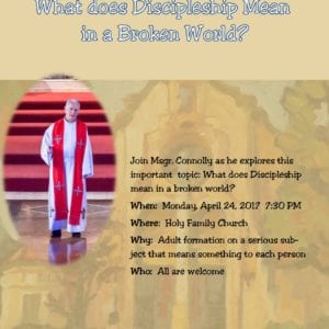 Discipleship Presentation on Monday April 24