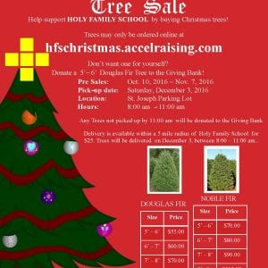 School Fundraiser – Order Your Christmas Trees From Us!