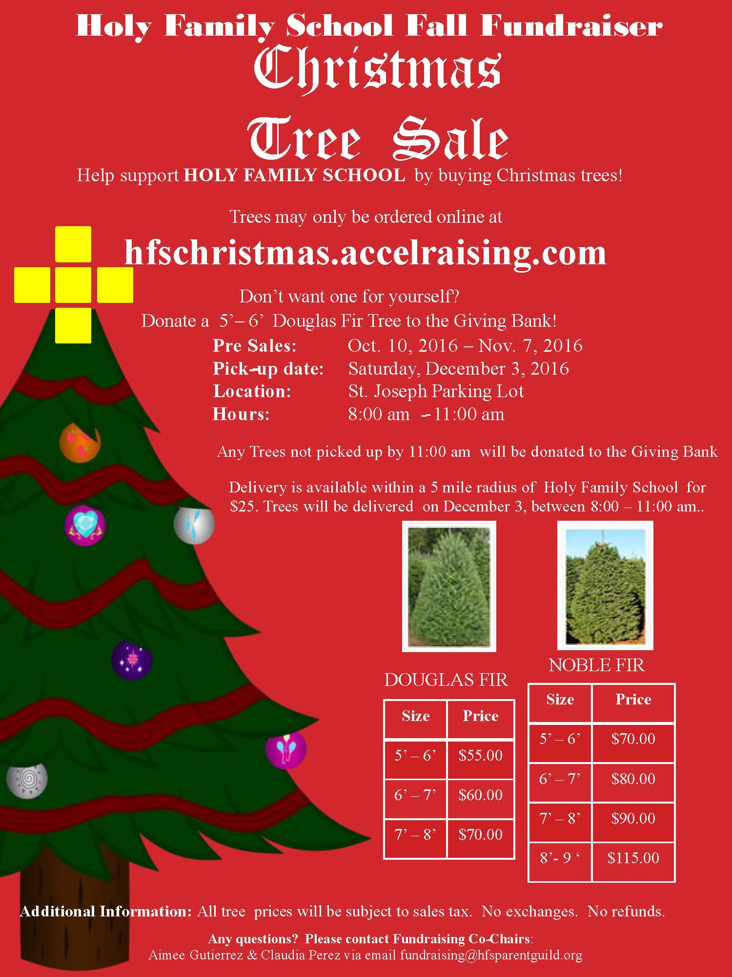 school fundraiser order your christmas trees from us - Sales On Christmas Trees