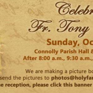 Fr Tony is Retiring!