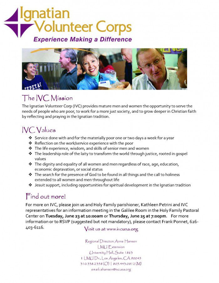 Join us for an IVC information session June 23 at 10:00 a.m. or June 25 at 7:00 p.m.