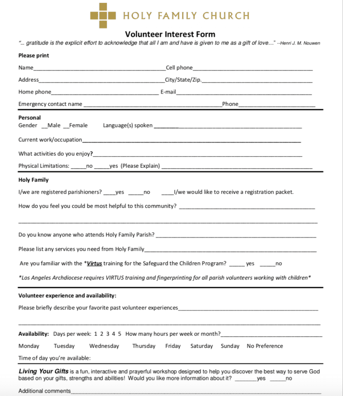 Volunteer Registration Form