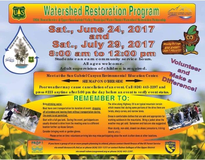 Family Volunteer Opportunity – San Gabriel Valley June 24, July 29