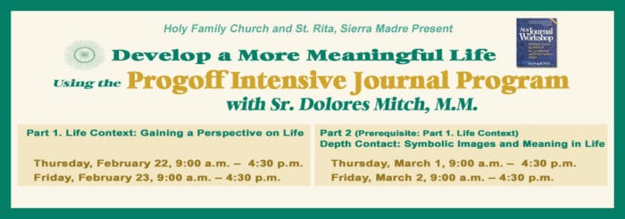Intensive Journal Program with Sister Dolores Mitch