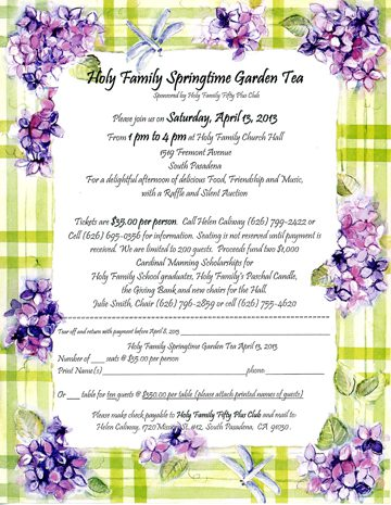 HF Spring Time Tea